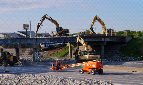 Structures, Inc. Engineers Bridge Demolition Over Major Interstate